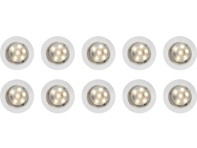 LAMPY PUNKTOWE WPUSZCZANE LED 10 szt. ANSLUT