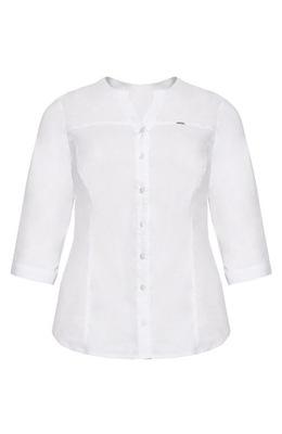 Klasyczna biała koszula z bawełny 52
