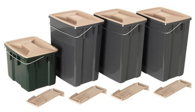 Zestaw Koszy do Segregacji Śmieci 3x 10L + 6L