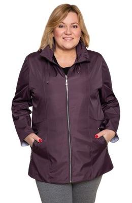 Śliwkowa przejściowa kurtka sportowa 52