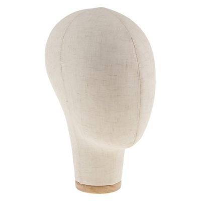1 szt. Płócienna głowa manekina - Beżowy