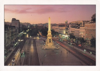 PORTUGALIA- LIZBONA- PLAC DOS RESTAURADORES-UNESCO