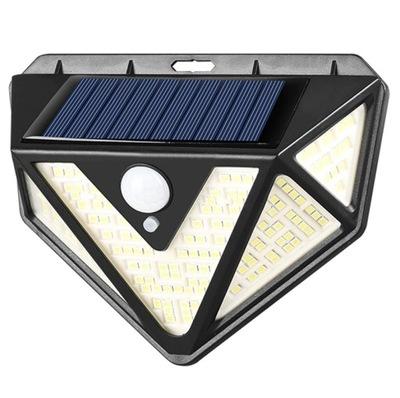 Lampa Solarna Sensor Szeroki Kąt Światła 166 LED