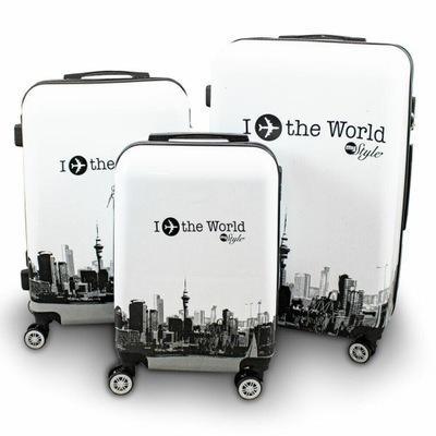 Walizki Fly The World Berwin Set M L Xl Komplet 8251718841 Oficjalne Archiwum Allegro