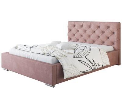 Łóżko tapicerowane BOSTON 140x200 +POJEMNIK+STELAŻ