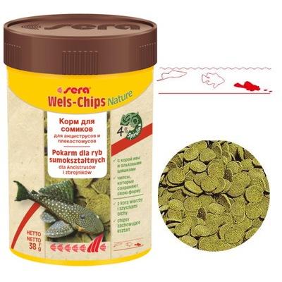 sera Wels-Chips Nature 100ml Pokarm dla glonojadów