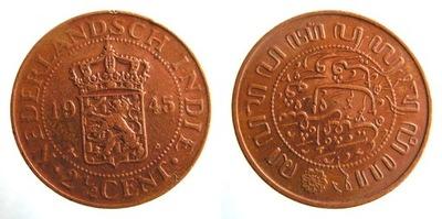 7783. Индия ГОЛЛАНДСКИЙ, 2 i1/2CENTA, 1945 г., 31 мм