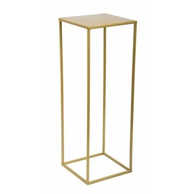 Nowoczesny złoty kwietnik stojący prosty z metalu