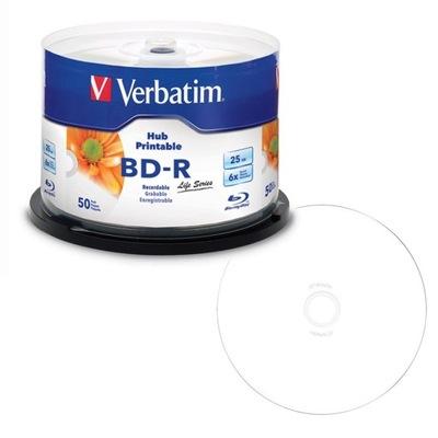 VERBATIM Płyty Blu-ray BD-R 25GB 6X CAKE 50 szt