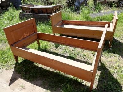 stare drewniane łoże łóżko rozsuwane UNIKAT