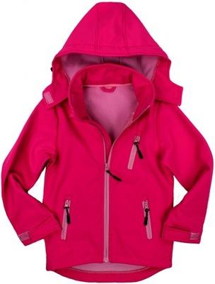 LUSA Neon różowa KURTKA Softshell Wiosna - 146/152