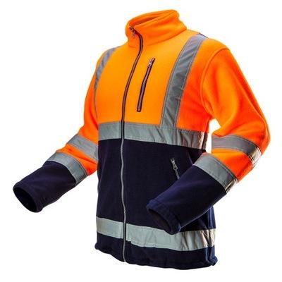 Bluza polarowa ostrzegawcza, pomarańczowa, rozmiar