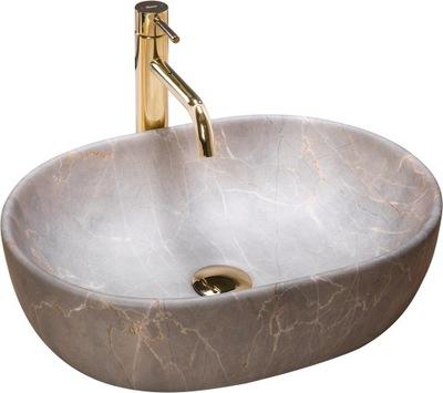 Umywalka Ceramiczna Nablatowa LARA BEIGE - Rea