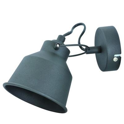 Lampy sconces VINTAGE čierna E14 LED regulow POLUX
