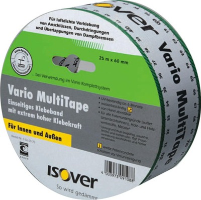 Páskou ISOVER Vario MultiTape pre roll film 60 mm x 25m