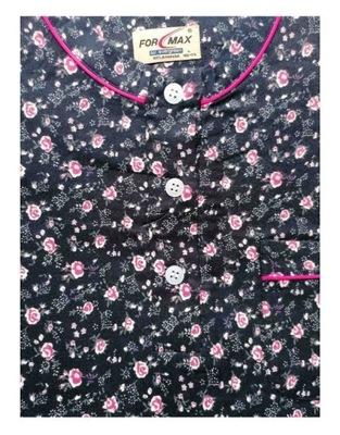 koszula nocna klasyczna FLANELOWA GRANAT M-XXL
