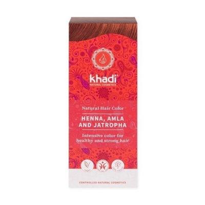 Henna do włosów Khadi – Czerwona z Amlą i Jatrophą
