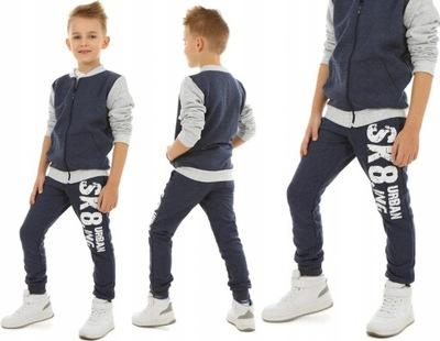 Spodnie dresowe dla chłopca SKA8TING - 158 KROPEK