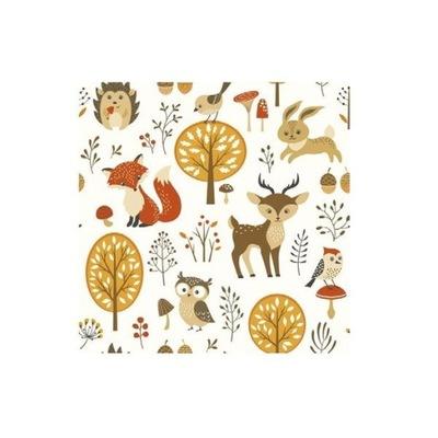 SERWETKI Leśne Zwierzątka Woodland urodziny 20szt