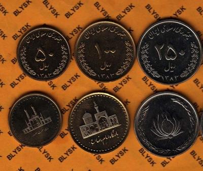 ИРАН набор .50 ,100 ,250 RIALS (1383) 2004  . И/-И RR