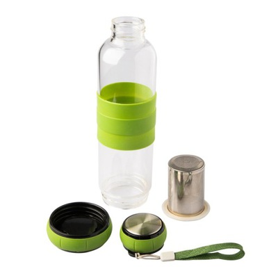 Szklana butelka z zaparzaczem herbaty 600 ml