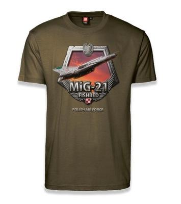 Koszulka Radziecki myśliwiec MiG-21 t-shirt XL