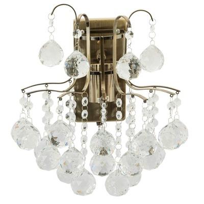 Sconce Lampa stene EL 6247/1 crystal mosadz