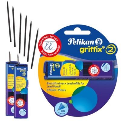 Wkład grafit rysik do ołówka Griffix 6szt PELIKAN