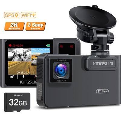 DUAL WIDEOREJESTRATO 2K GPS+SONY IMX307+32GB КАРТА