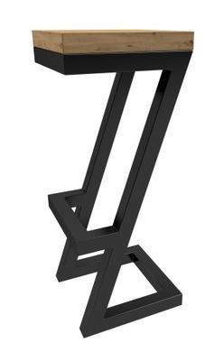Hoker ZORRO LOFT Krzesło industrial 75x35x35 cm