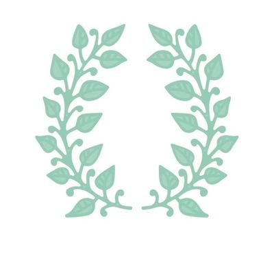 комплект выкроек-близнецы листья 2 штук
