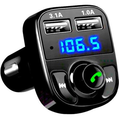 ТРАНСМИТЕР FM BLUETOOTH ЗАРЯДНОЕ УСТРОЙСТВО MP3 2XUSB SD LCD