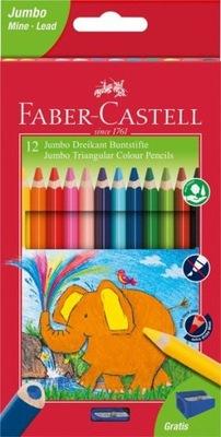 FABER Castell Kredki Jumbo trójkątne 12kol.