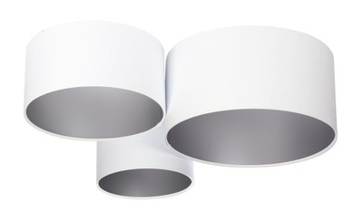 Moderné stropné lampy Rôznych White-silver