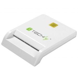 TECHLY Czytnik USB 2.0 Kart / Smart Card biały