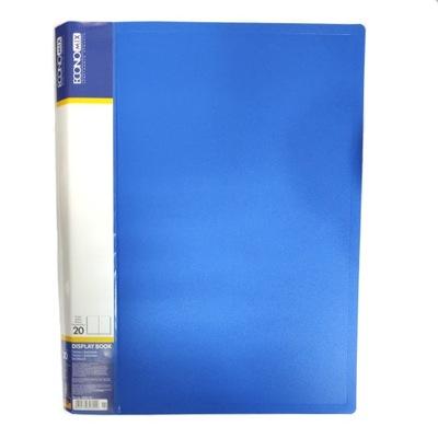 Teczka ofertowa album 20 koszulek A4 niebieska