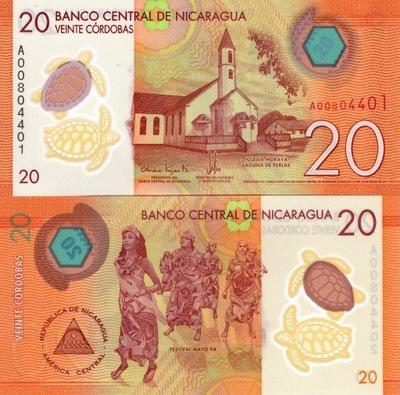# NIKARAGUA - 20 CORDOBAS - 2014 - P-210 - UNC