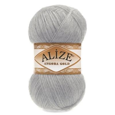 пряжа Alize ангора Gold 21 - яркий Серый