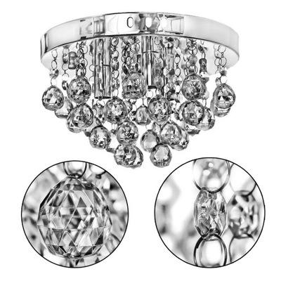 Prívesok lampy, stropné lampy glamour striebro moderné