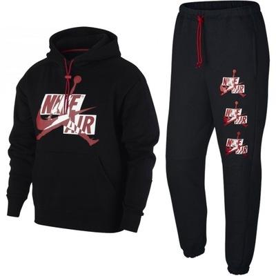 Nike Jordan sportowy dres męski czarny komplet XL