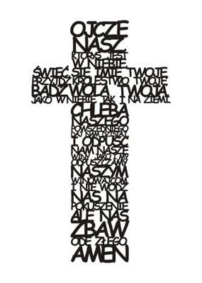Krzyż na ścianę Ojcze nasz Pierwsza Komunia Święta