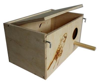 budka lęgowa dla falistej i małych ptaków + GRATIS