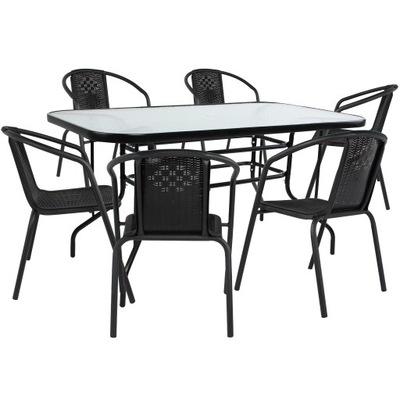 стол садовый для 6 Человек Выходные XXL Цвет Черный