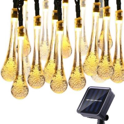 30 LED LAMPKI SOLARNE OGRODOWE WODOODPORNE 6M