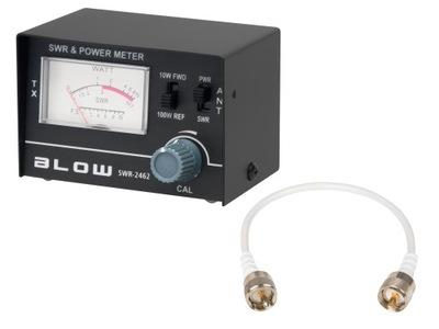 Reflektometr SWR CB BLOW miernik + kabel zestaw