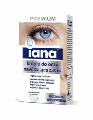 IANA Premium krople do oczu nawilżające 0,4% 10 ml