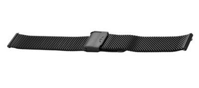 Bransoleta BISSET BM-101 mesh czarna 12mm blysk