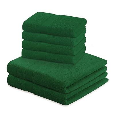 Bavlnený uterák, zelená, Sada 2*70x140+4*50x1