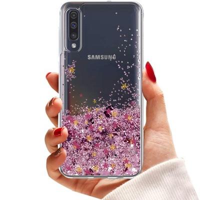 Etui do Samsung A50 A30S GLITTER STAR BROKAT SZKŁO