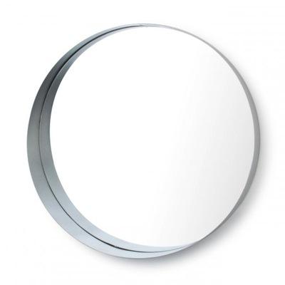 KULOVÉ ZRKADLO - v kovovom ráme 50 cm strieborné